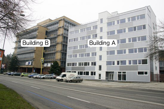 Buildings A and B